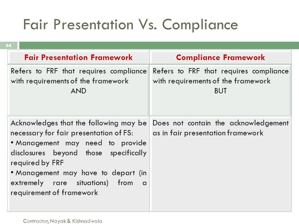 Fair Presentation Vs. Compliance