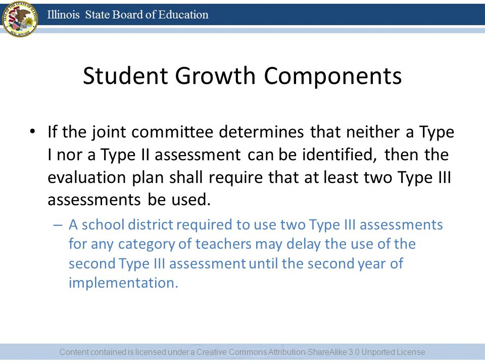 Student Growth Components