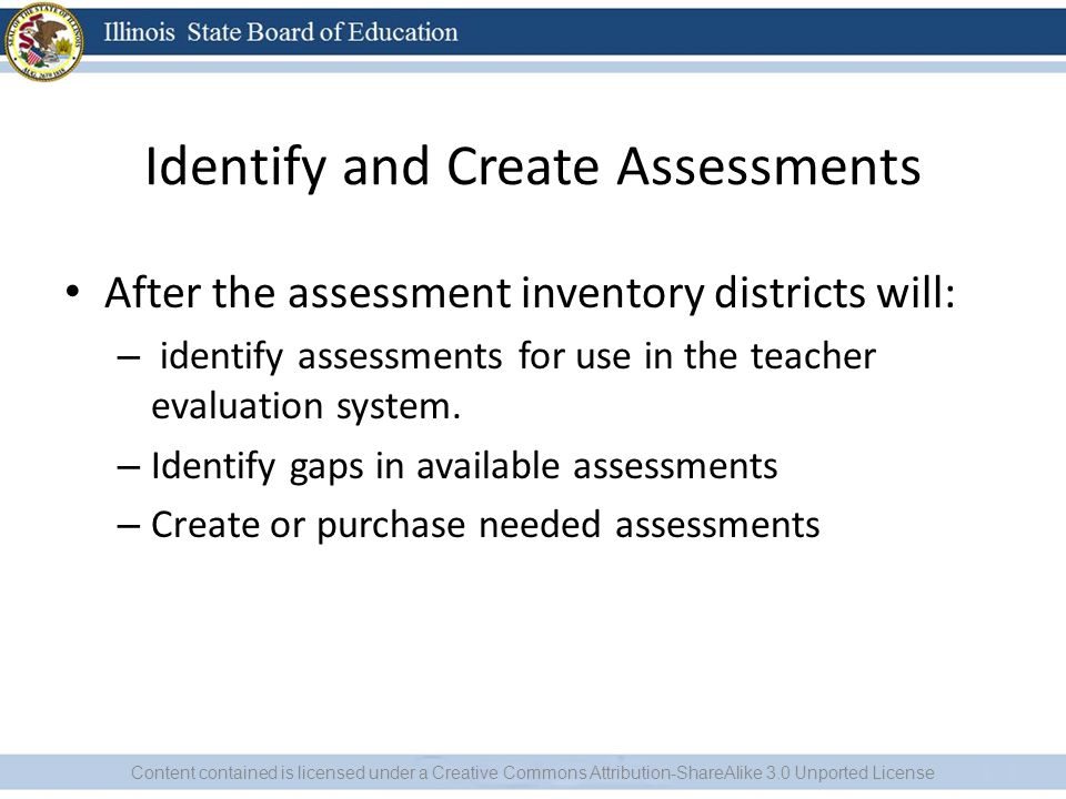 Identify and Create Assessments