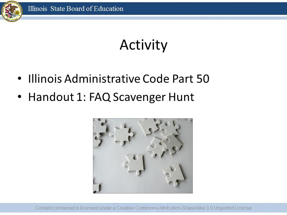Activity Illinois Administrative Code Part 50