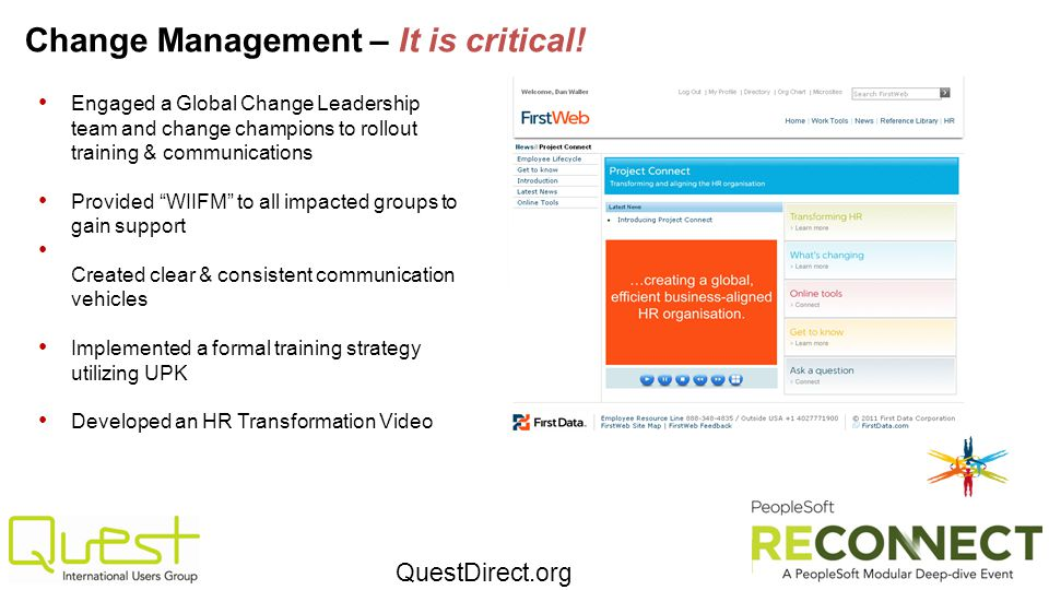 Change Management – It is critical!