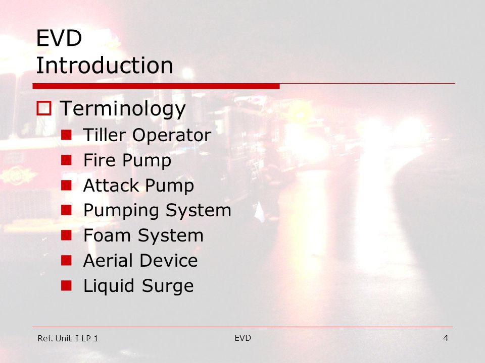 EVD Introduction Terminology Tiller Operator Fire Pump Attack Pump