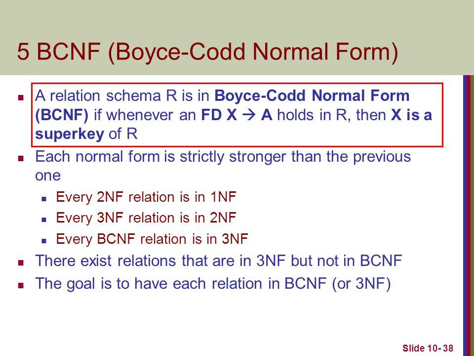 5 BCNF (Boyce-Codd Normal Form)
