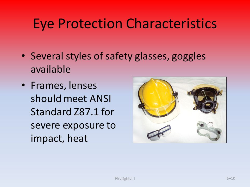 Eye Protection Characteristics