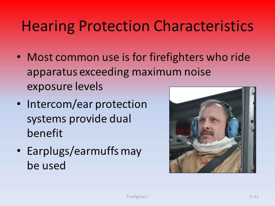 Hearing Protection Characteristics