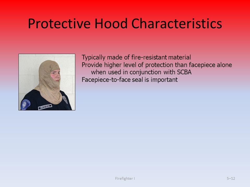 Protective Hood Characteristics