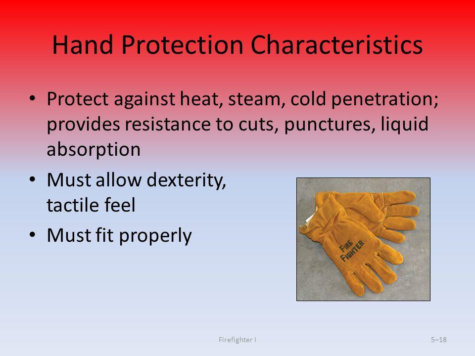 Hand Protection Characteristics