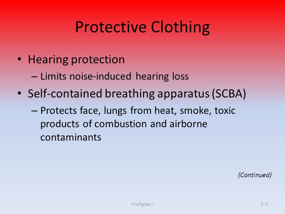 Protective Clothing Hearing protection