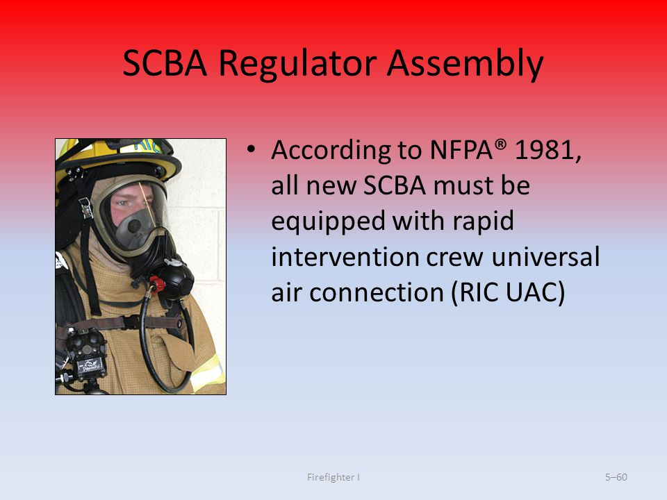 SCBA Regulator Assembly