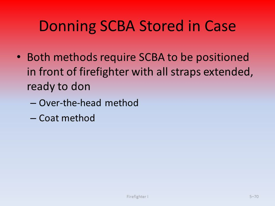 Donning SCBA Stored in Case