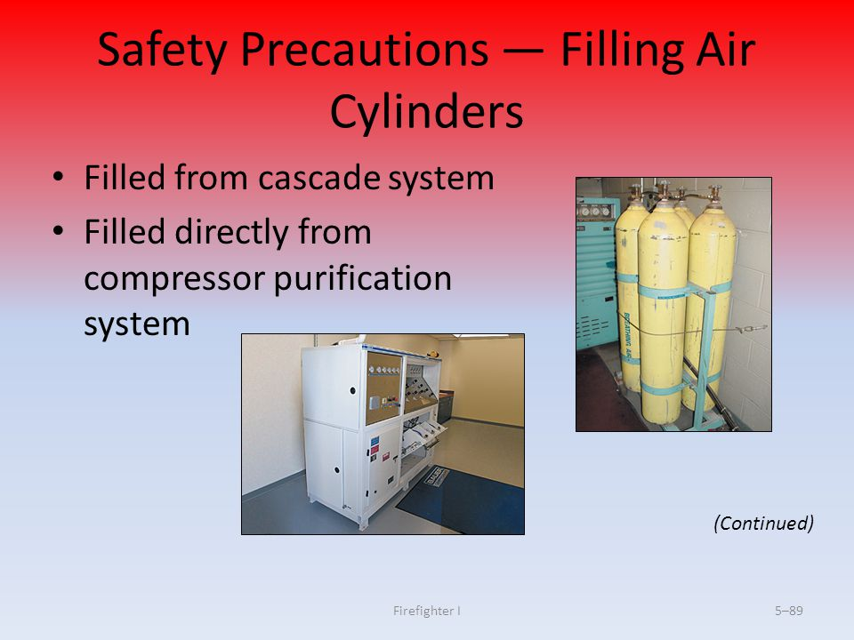 Safety Precautions — Filling Air Cylinders