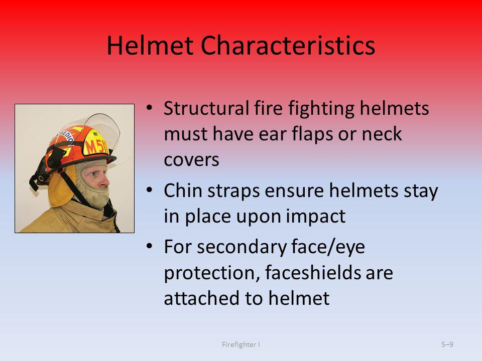 Helmet Characteristics