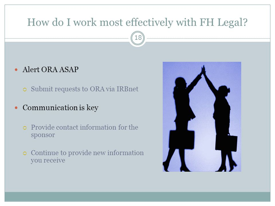 How do I work most effectively with FH Legal