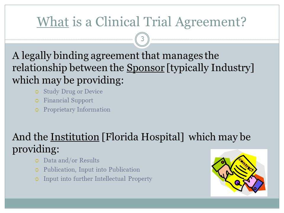 What is a Clinical Trial Agreement