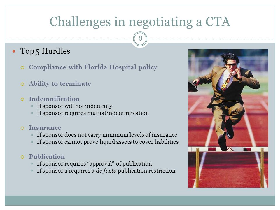 Challenges in negotiating a CTA