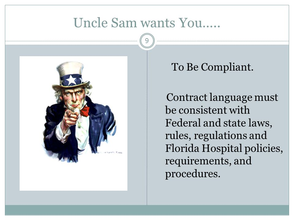 Uncle Sam wants You…..