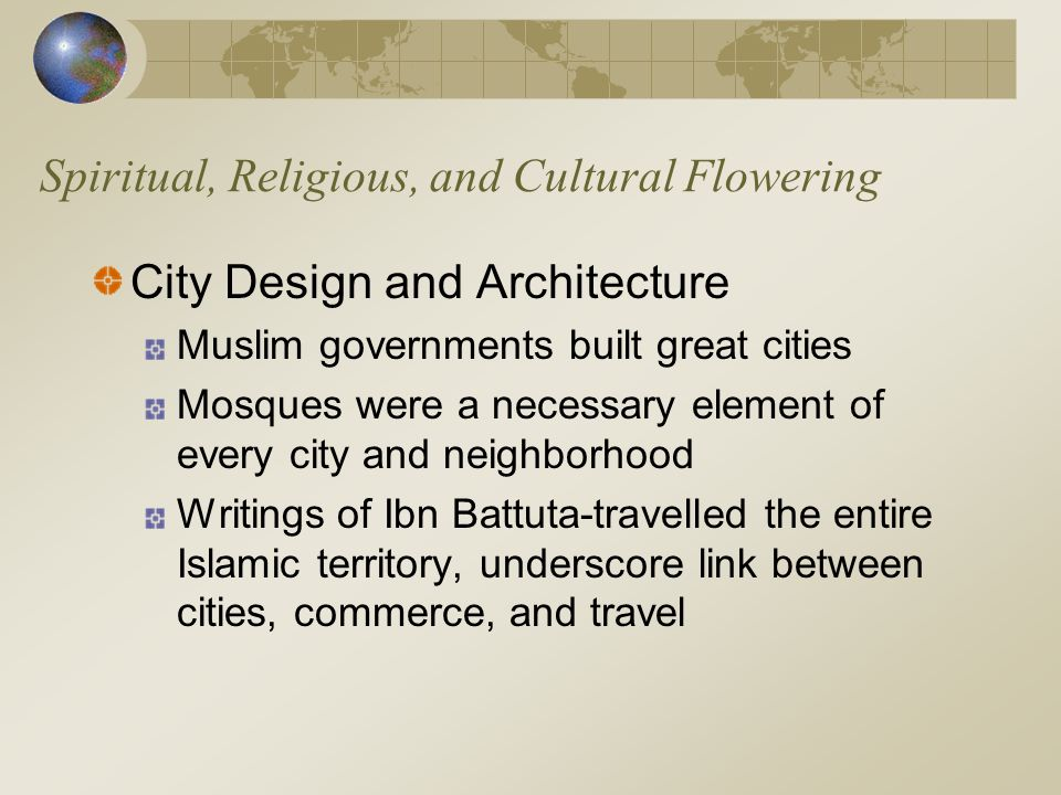 Spiritual, Religious, and Cultural Flowering