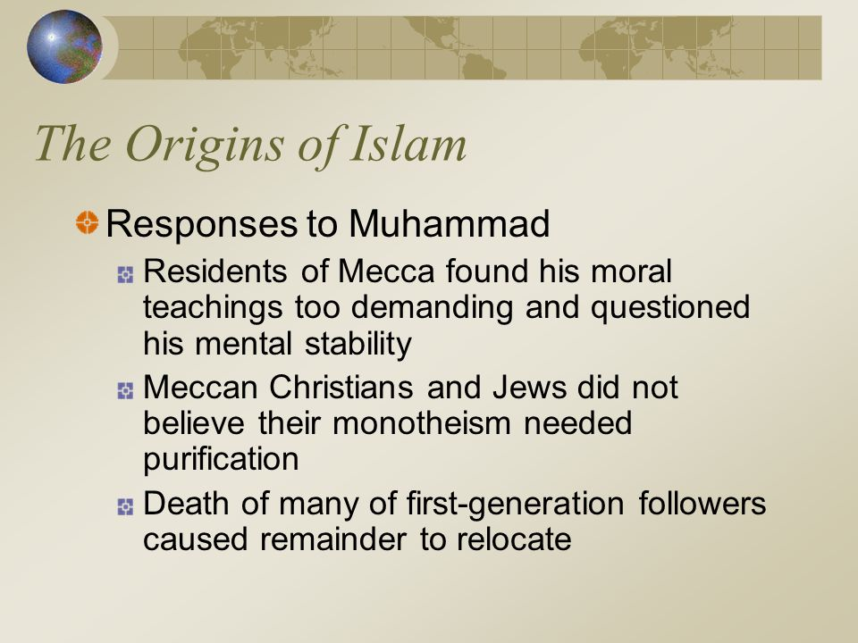 The Origins of Islam Responses to Muhammad