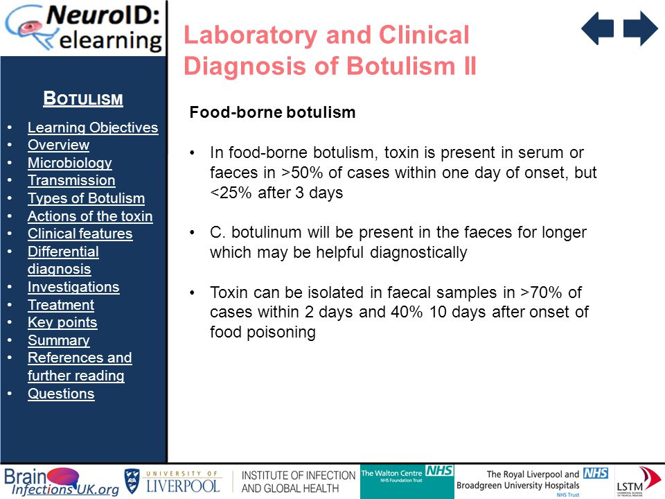 Laboratory and Clinical Diagnosis of Botulism II