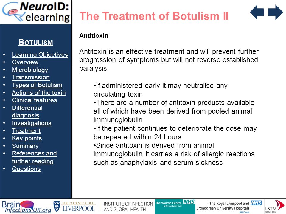 The Treatment of Botulism II
