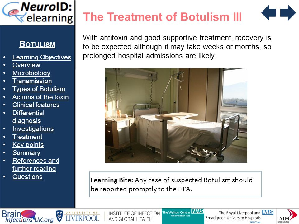 The Treatment of Botulism III