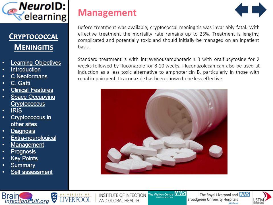 Management Cryptococcal Meningitis Learning Objectives Introduction