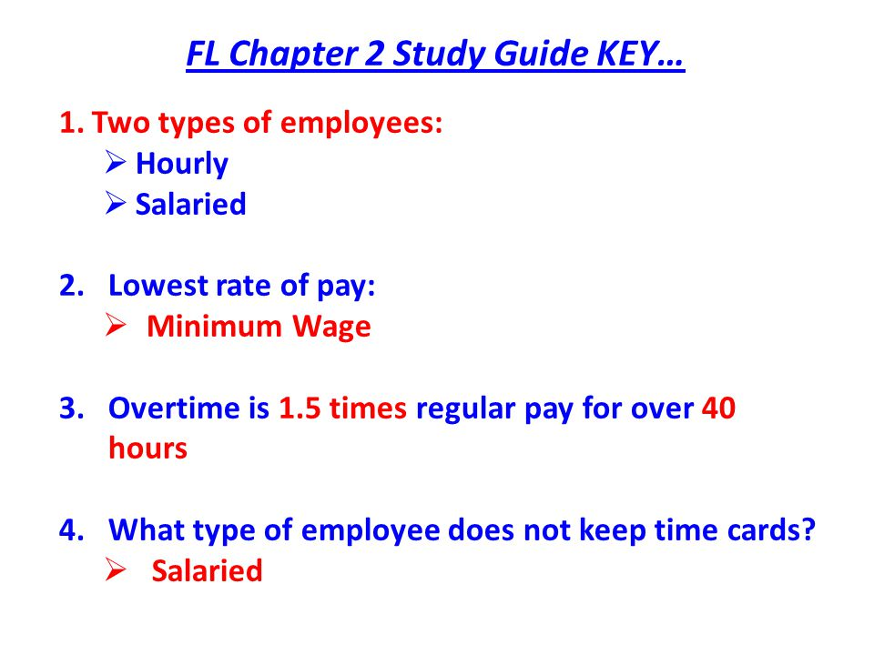 FL Chapter 2 Study Guide KEY…