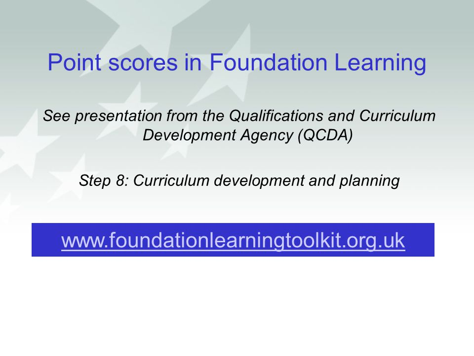 Point scores in Foundation Learning