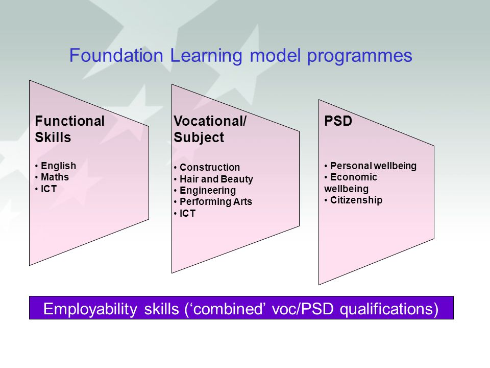 Foundation Learning model programmes