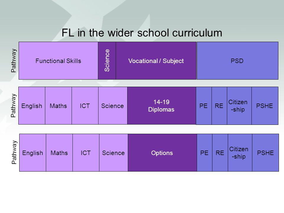 FL in the wider school curriculum