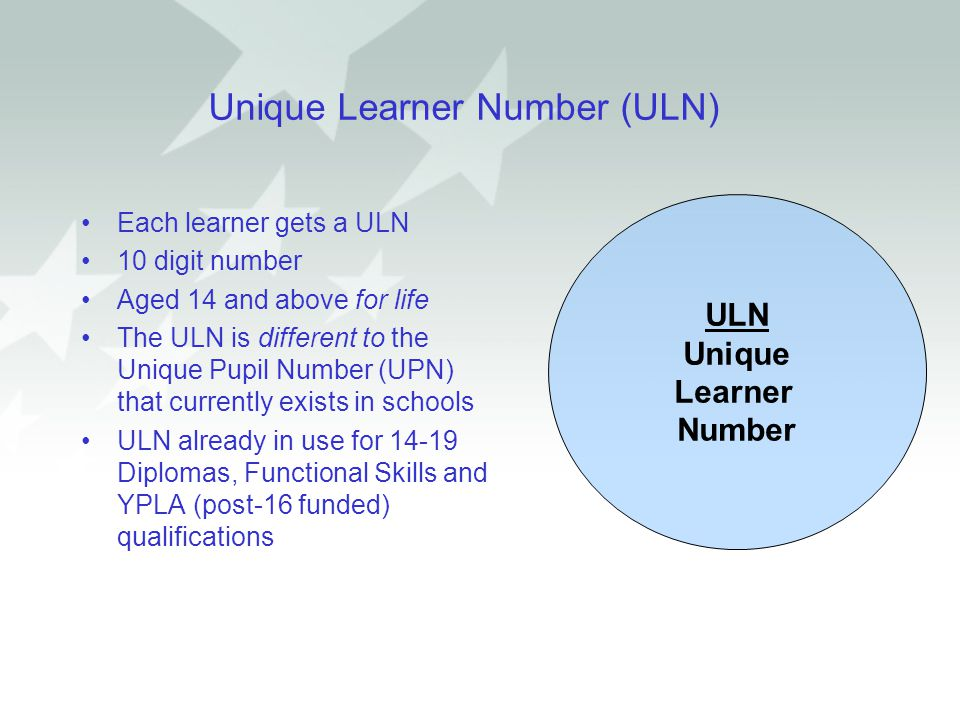 Unique Learner Number (ULN)
