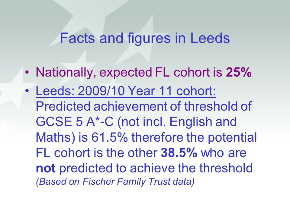 Facts and figures in Leeds