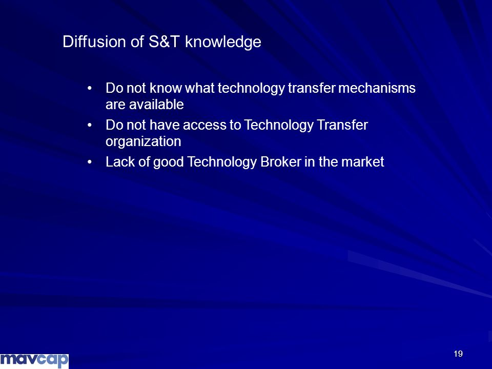 Diffusion of S&T knowledge