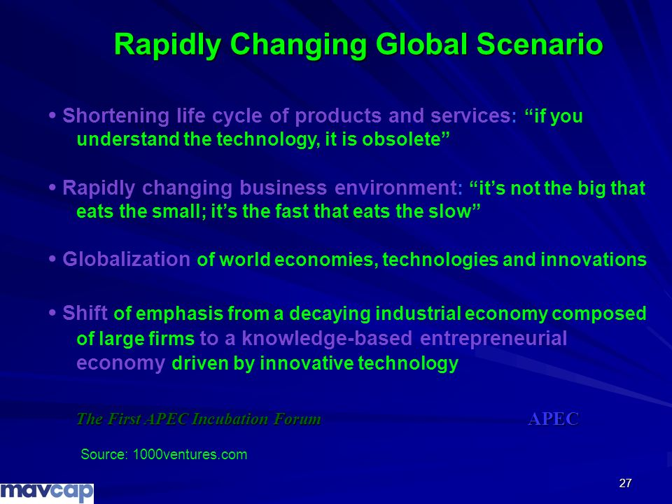 Rapidly Changing Global Scenario