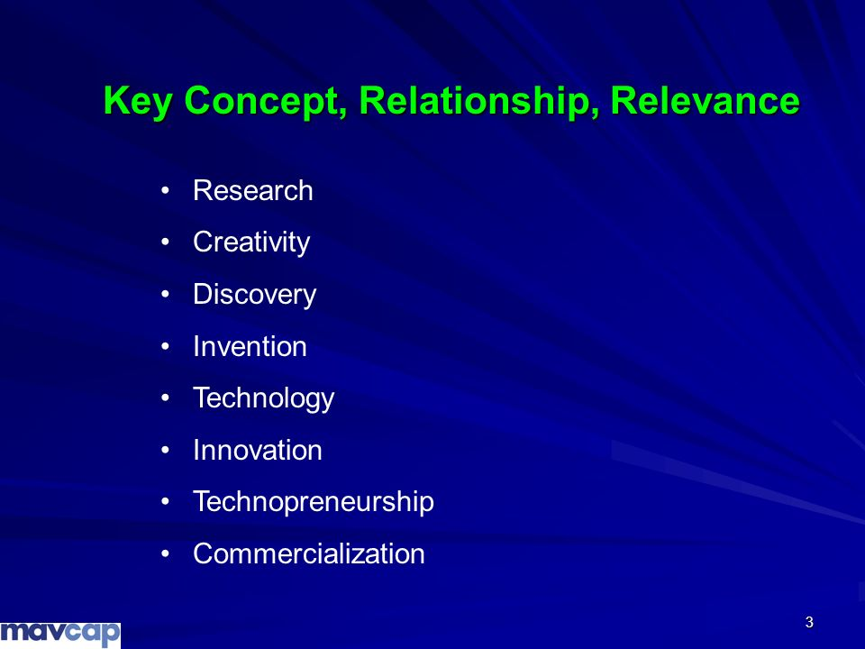 Key Concept, Relationship, Relevance