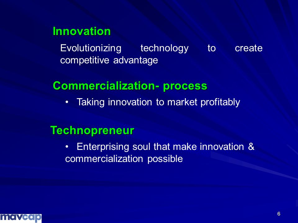 Commercialization- process