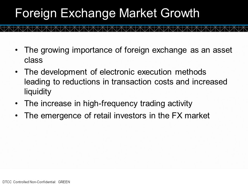 Foreign Exchange Market Growth