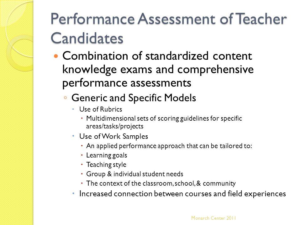 Performance Assessment of Teacher Candidates