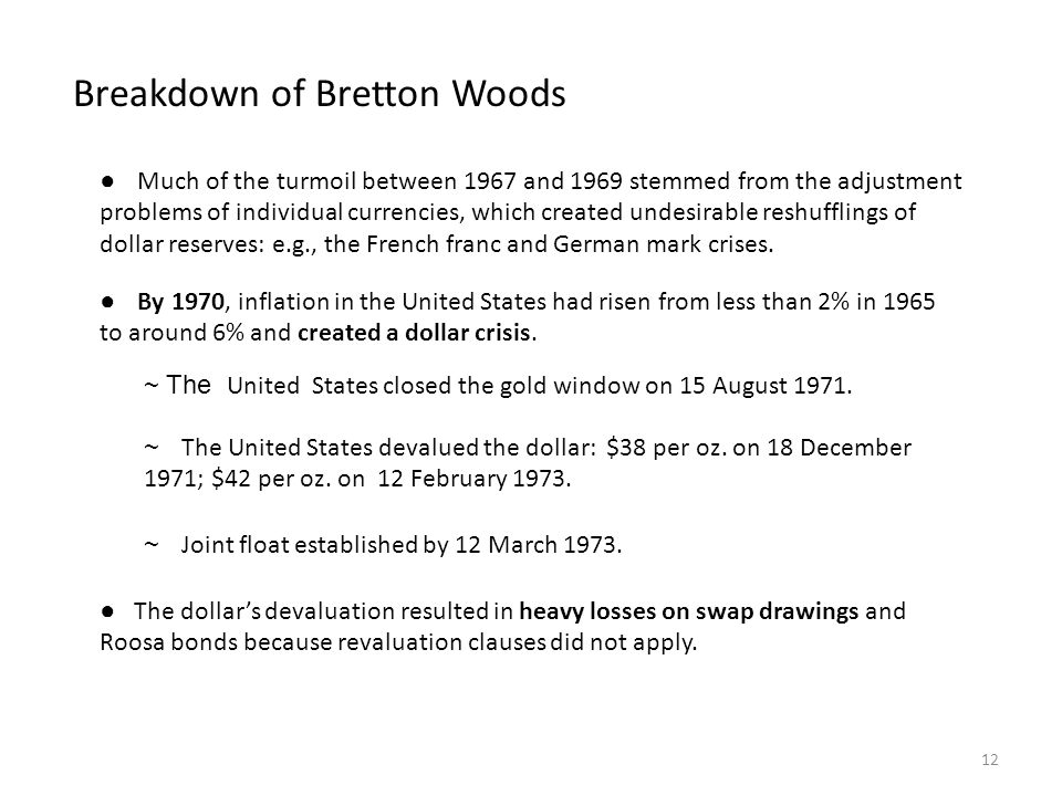 Breakdown of Bretton Woods