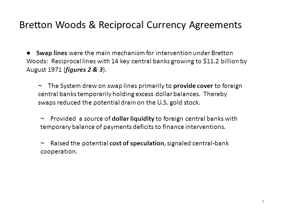 Bretton Woods & Reciprocal Currency Agreements