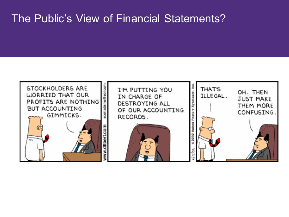 The Public's View of Financial Statements