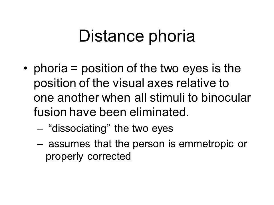 Distance phoria