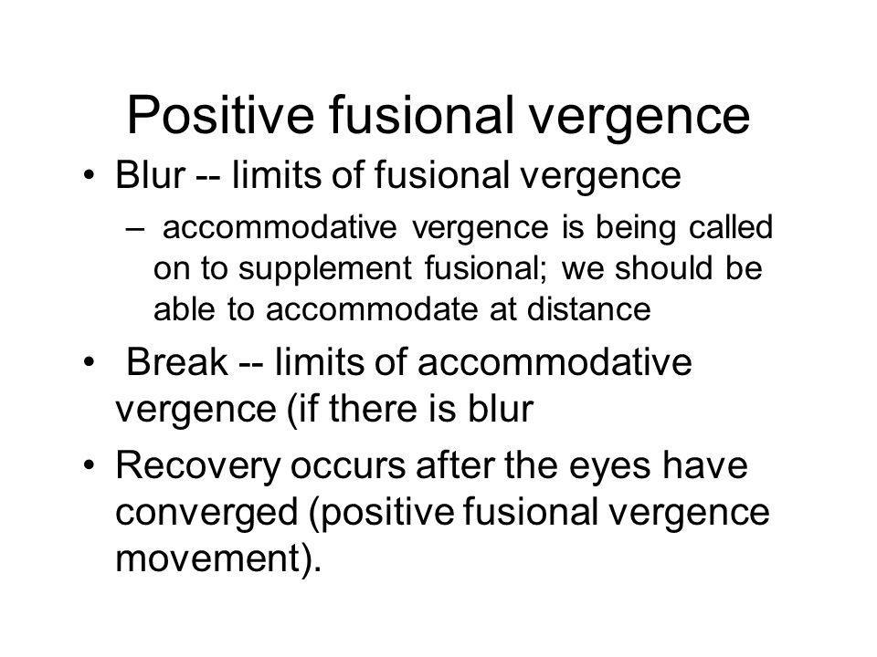 Positive fusional vergence