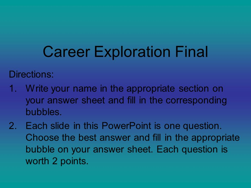 Career Exploration Final