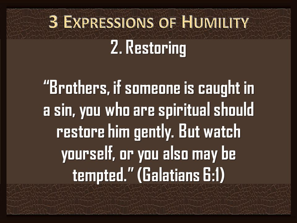 3 Expressions of Humility