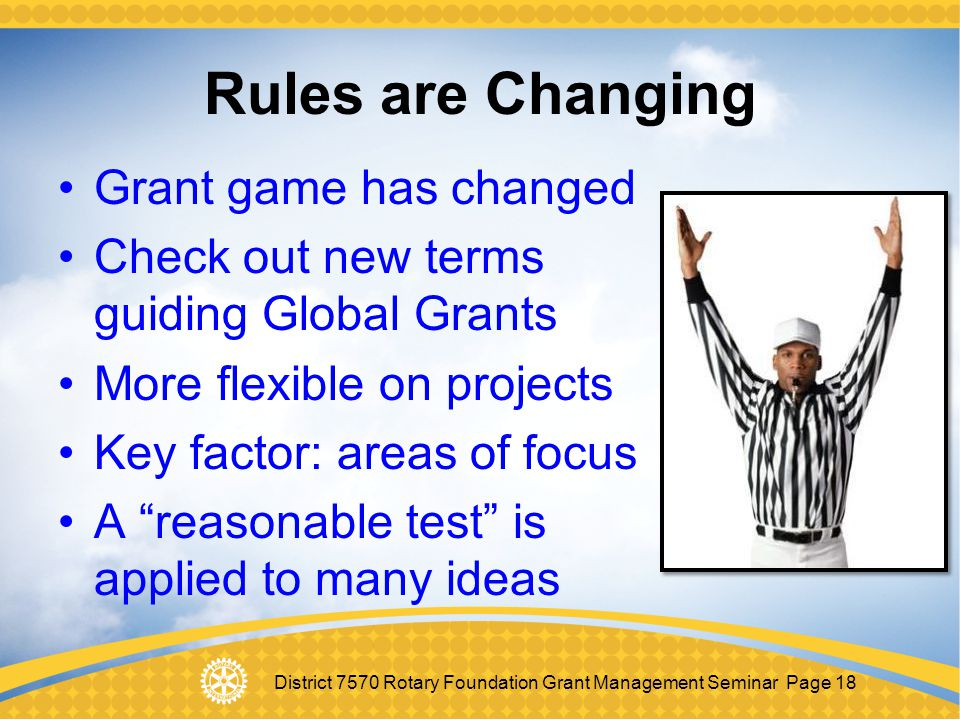 Rules are Changing Grant game has changed