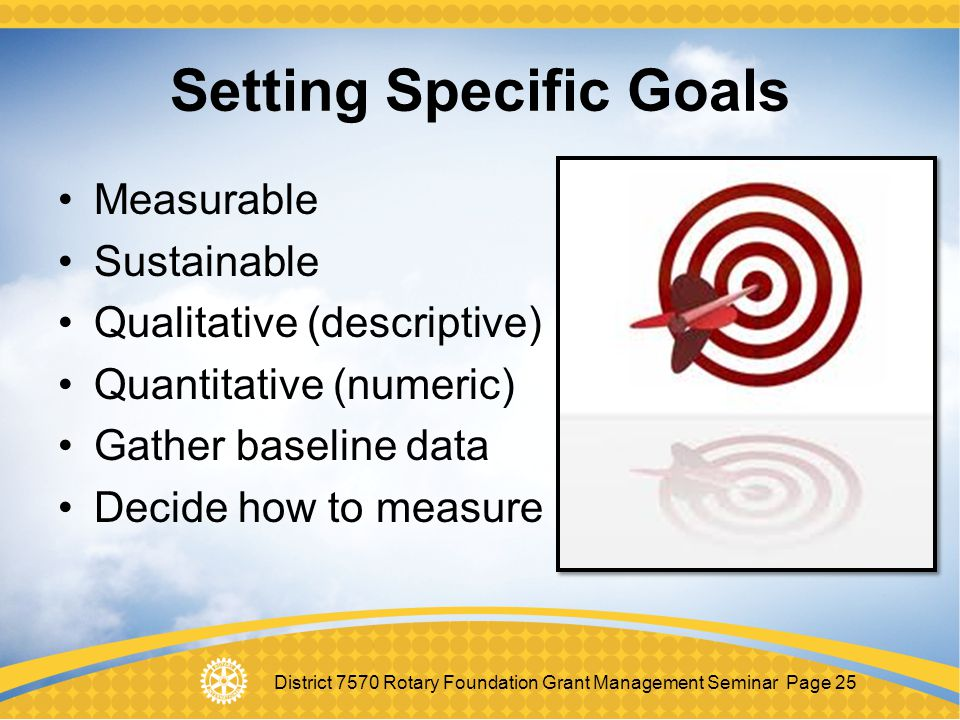 Setting Specific Goals