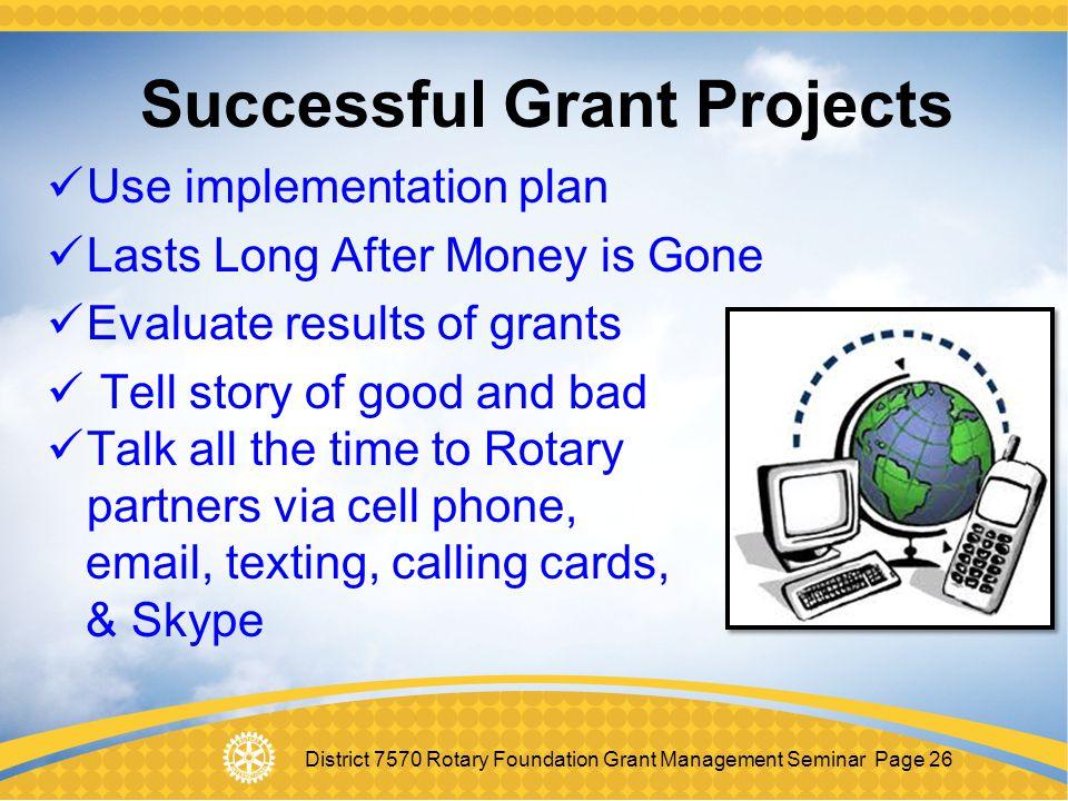 Successful Grant Projects
