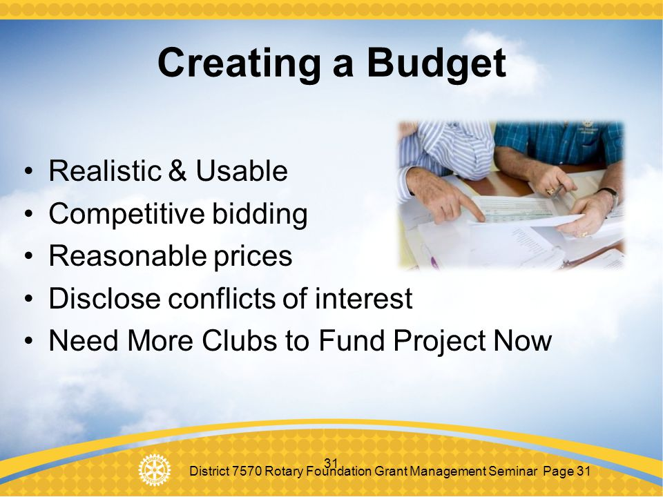 Creating a Budget Realistic & Usable Competitive bidding