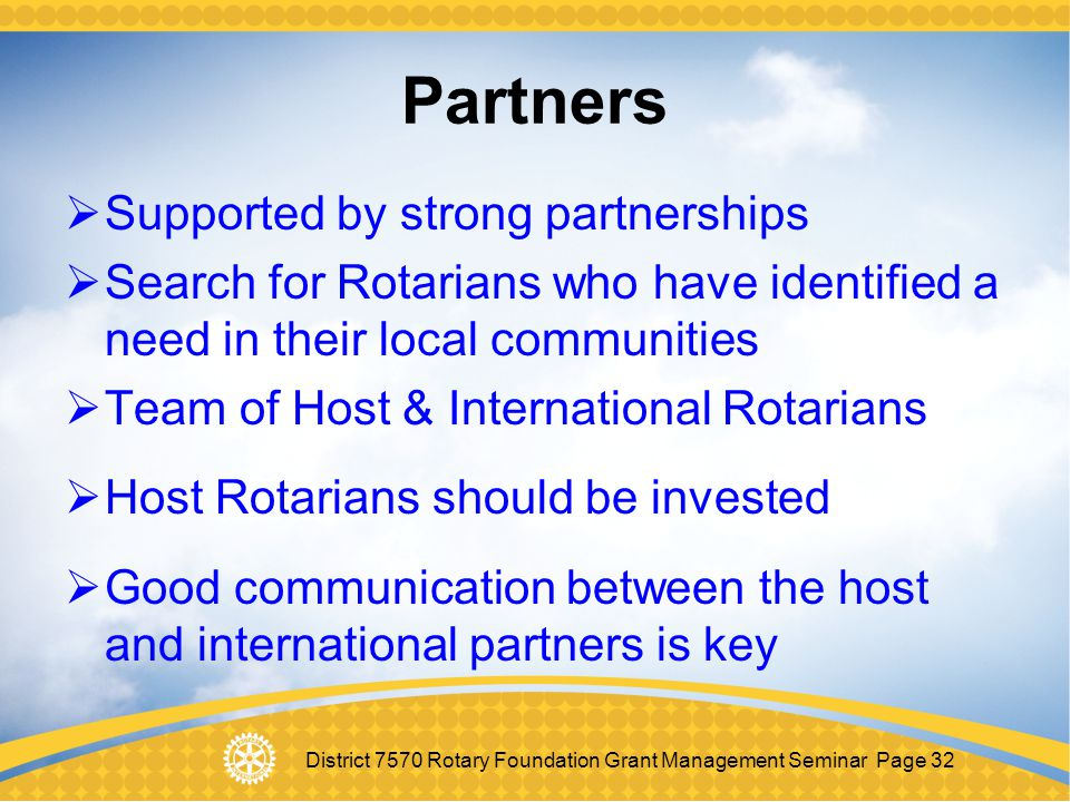 Partners Supported by strong partnerships